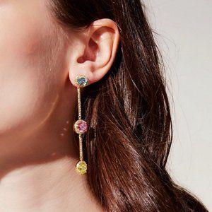 Henri Bendel Colored Gemstone Earrings